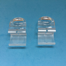 CLEAR PLEATED BLIND FINGER TAB CLIP ON HANDLES 1 X PAIR